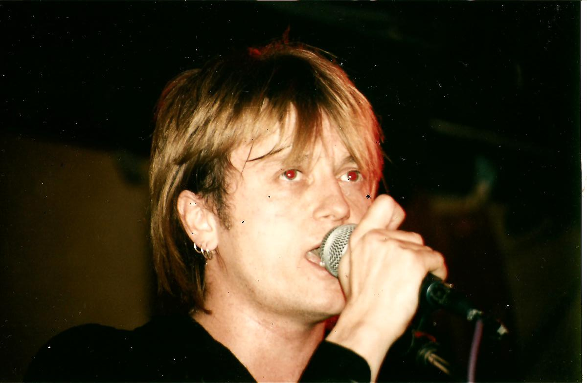 Performing at the Water Rats London mid 90's